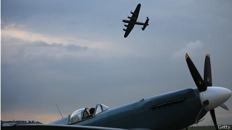 Foto de un Lancaster Bomber