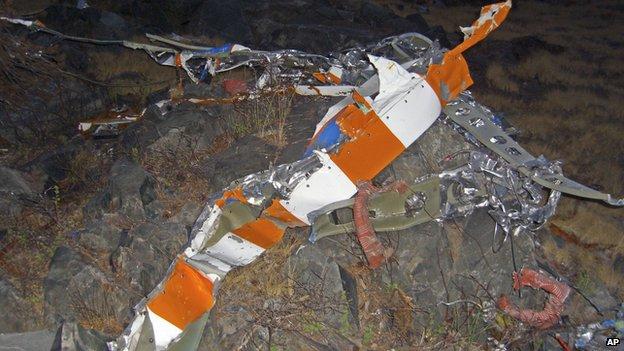 Los restos de la avioneta de Fossett