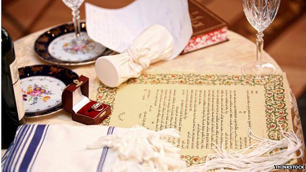 Artículos de la boda judía
