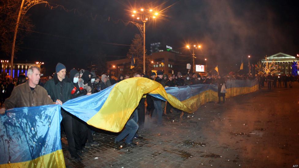 Мирный митинг протеста на площади Ленина