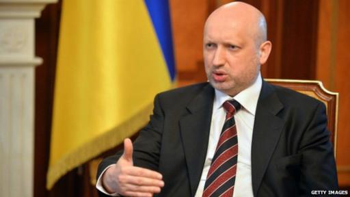 O presidente interino da Ucrânia, Oleksandr Turchynov (Gettty)