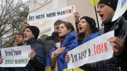 Protesto na Crimeia (BBC)