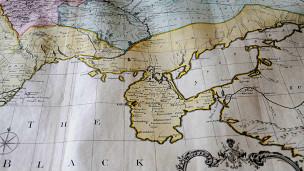 Mapa antiguo de Ucrania