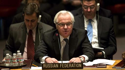 Постоянный представитель России при ООН Виталий Чуркин 15 марта 2014 года