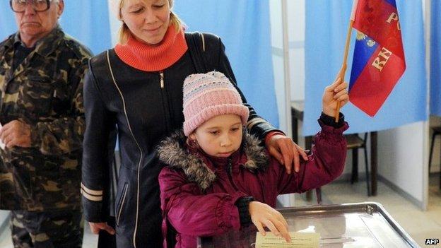 Votação na Crimeia | Crédito: AFP