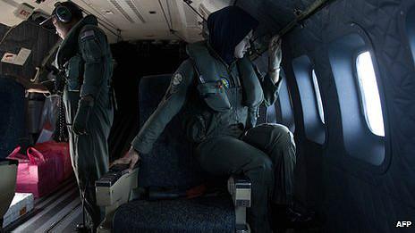 Tripulantes de la fuerza aérea de Malasia
