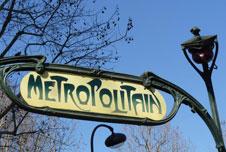 A Metro train in Paris