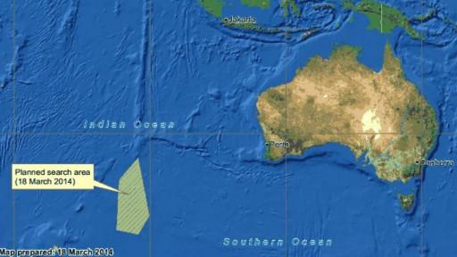 Mapa de área de buscas | Amsa