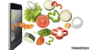 Tableta y verduras