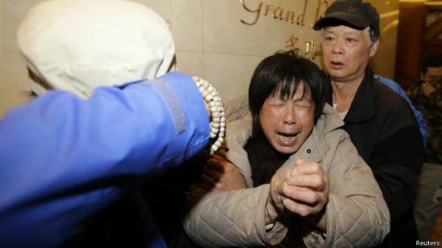 أقارب ضحايا الطائرة الماليزية