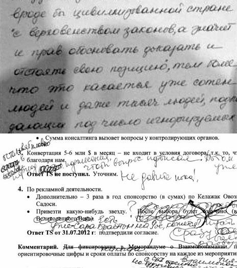 Письмо Гульнары Каримовой