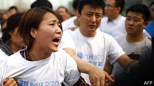 Familiar de una víctima del vuelo MH370