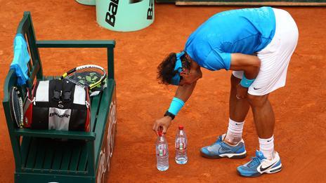 Rafael Nadal en la cancha