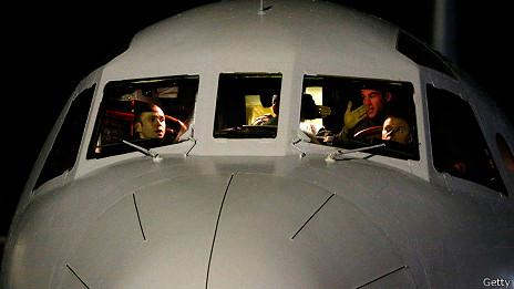 Cabina de avión de búsqueda australiano