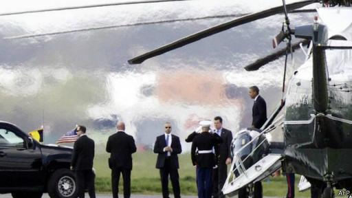 Прибытие Обамы