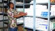 Estoque de remédios dos Médicos Sem Fronteiras para pacientes com suspeita de ebola na Guiné (AFP)