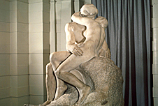 Rodin's sculpture The Kiss at Paris museum