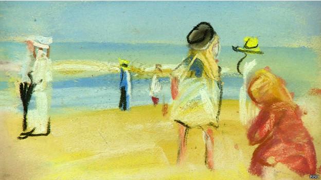 Escena de playa del pintor Max Liebermann