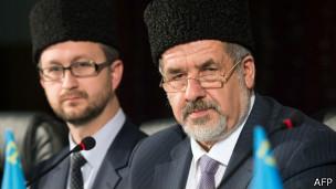 Рефат Чубаров (справа) и Нариман Джелял