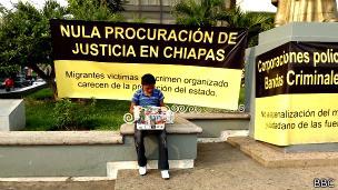 Niño inmigrante en Chiapas, México