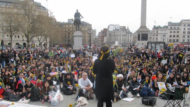倫敦示威現場