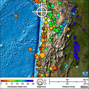 Magnitud sismo en Chile