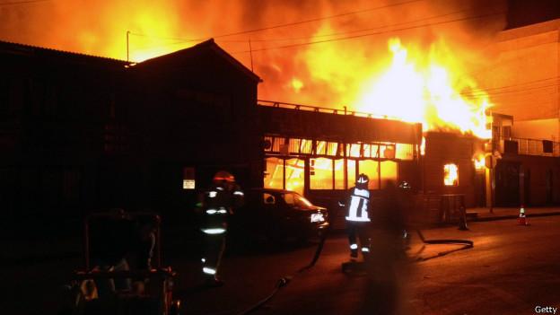 Incêndio em restaurante no Chile (Getty)