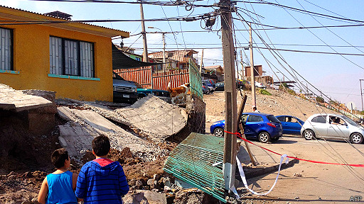 terremoto en Iquique, Chile
