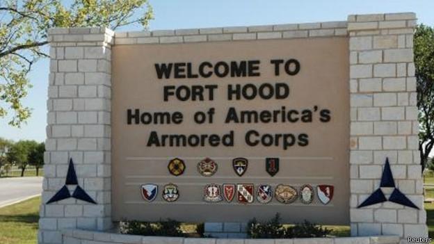 Base militar de Fort Hood nos EUA (foto: Reuters)