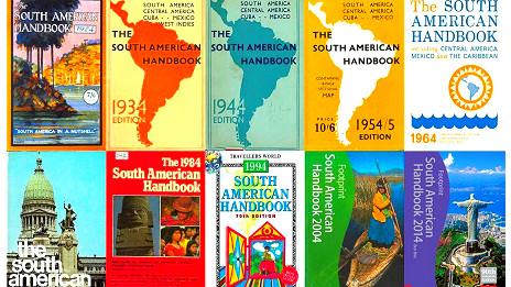 Portadas del Manual para Sudamérica de diferentes décadas