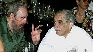 Gabriel Garcia Marquez və Fidel Castro