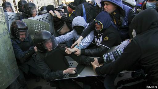столкновения в Донецке