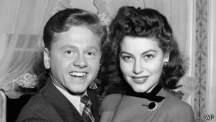 Mickey Rooney con Ava Gardner