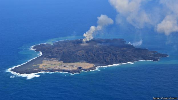 Isla volcánica en Japón