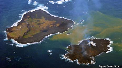 Islas volcánicas en Japón el 13-12-2013
