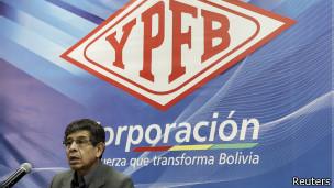 Carlos Villegas, presidente da empresa estatal Yacimientos Petrolíferos Fiscales Bolivianos (Reuters)