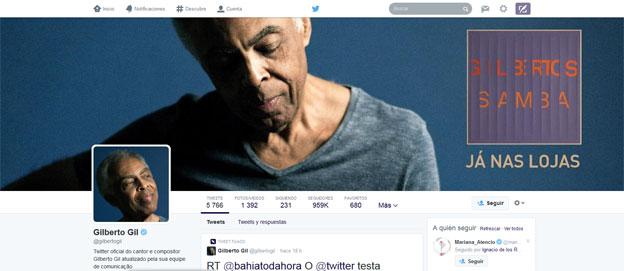 Perfil de Gilberto Gil