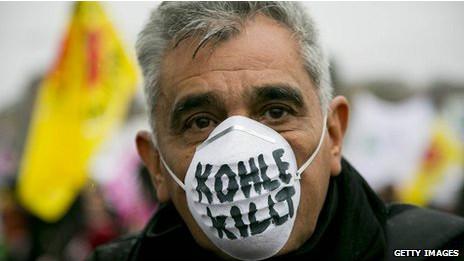 Protesta anti carbón