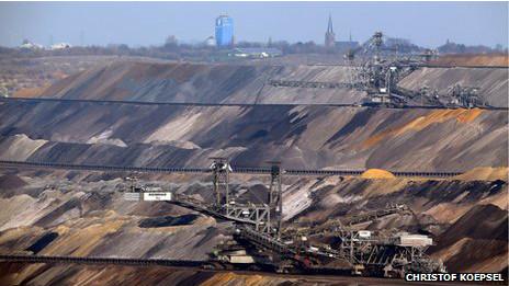 Mina de carbón en Alemania