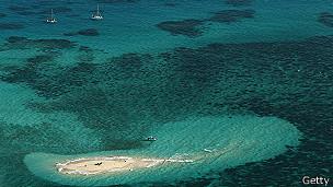 Cayo de Vlassof en la Gran barrera de coral en Australia