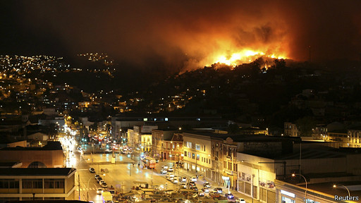 Incendio en Valparaiso