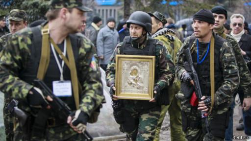 Икона у военных в Луганске