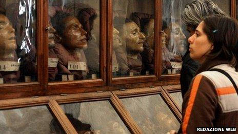 Galería de Lombroso en el museo de Turín, Italia