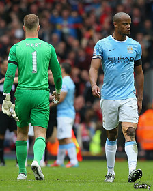 Joe Hart y Vincent Kompany