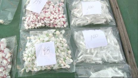 Drogas decomisadas en un allanamiento en Rosario. Foto: BBC