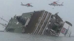 Ferry yenye abiria 460 ikizama Korea Kusini.