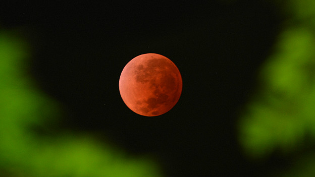 Eclipse lunar, visto desde Australia