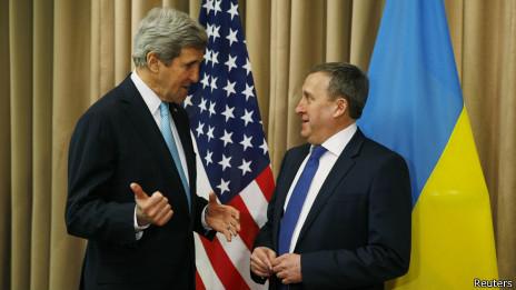 John Kerry e Andrii Deshchytsia