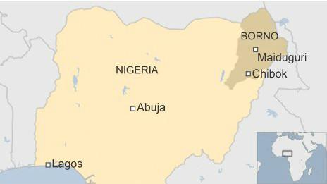 Mapa da Nigéria (BBC)