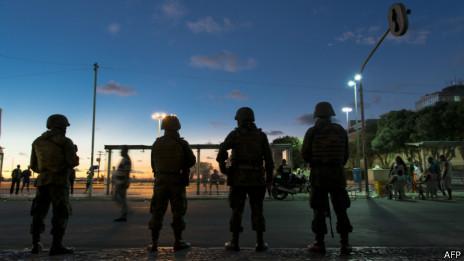 Força Nacional na Bahia. AFP
